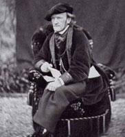 Richard Wagner in Tribschen (1867, Photo von Jules Bonnet)